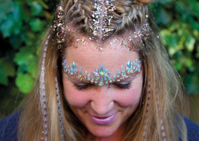 Hair glitter and braiding